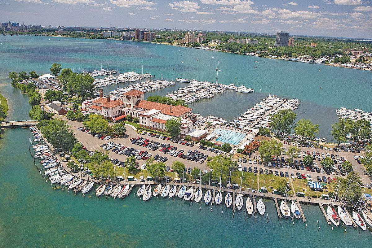 Aerial view of the Detroit Yacht Club